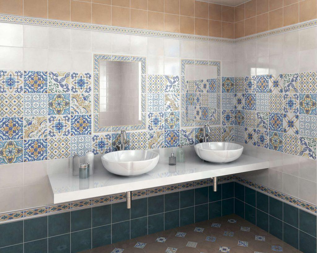 кафель для ванной: мозаика, клинкер, печворк