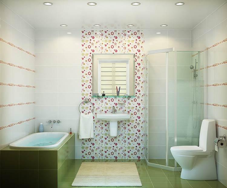 облицовка ванны с помощью кафеля