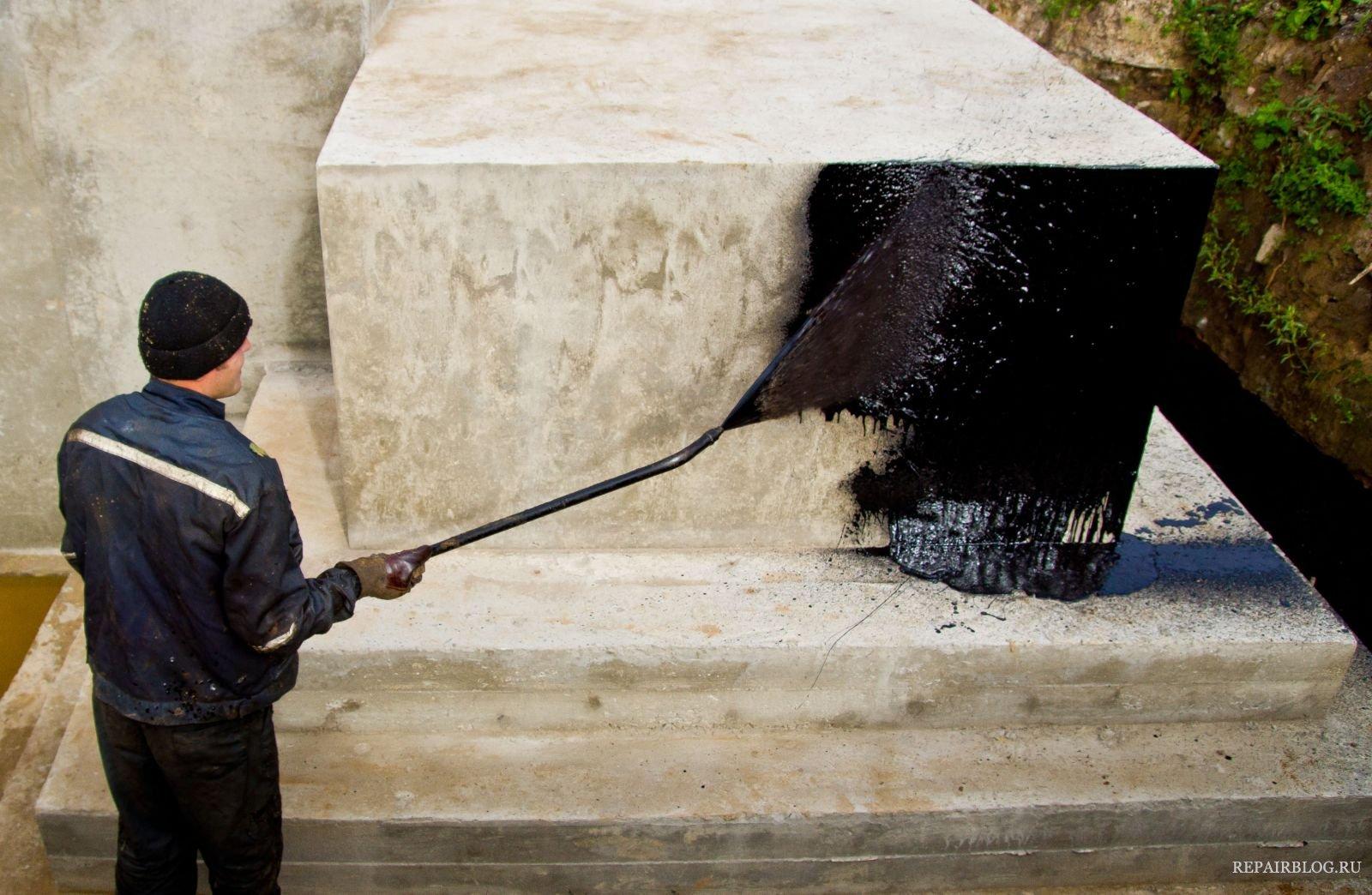 обмазочная гидроизоляция для бетона битумная