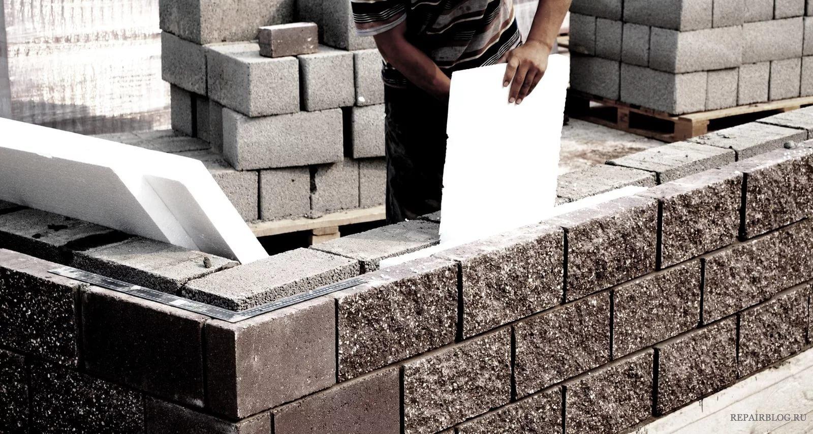 кладка стен керамзитобетонными блоками