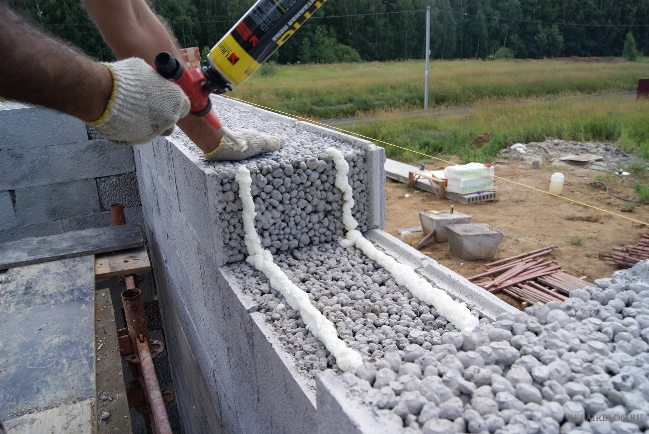 кладка керамзитобетонных блоков видео