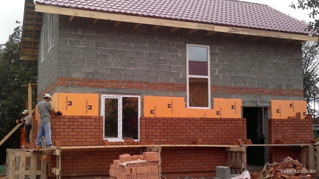 Облицовка домов из керамзитобетона виды строительных растворов