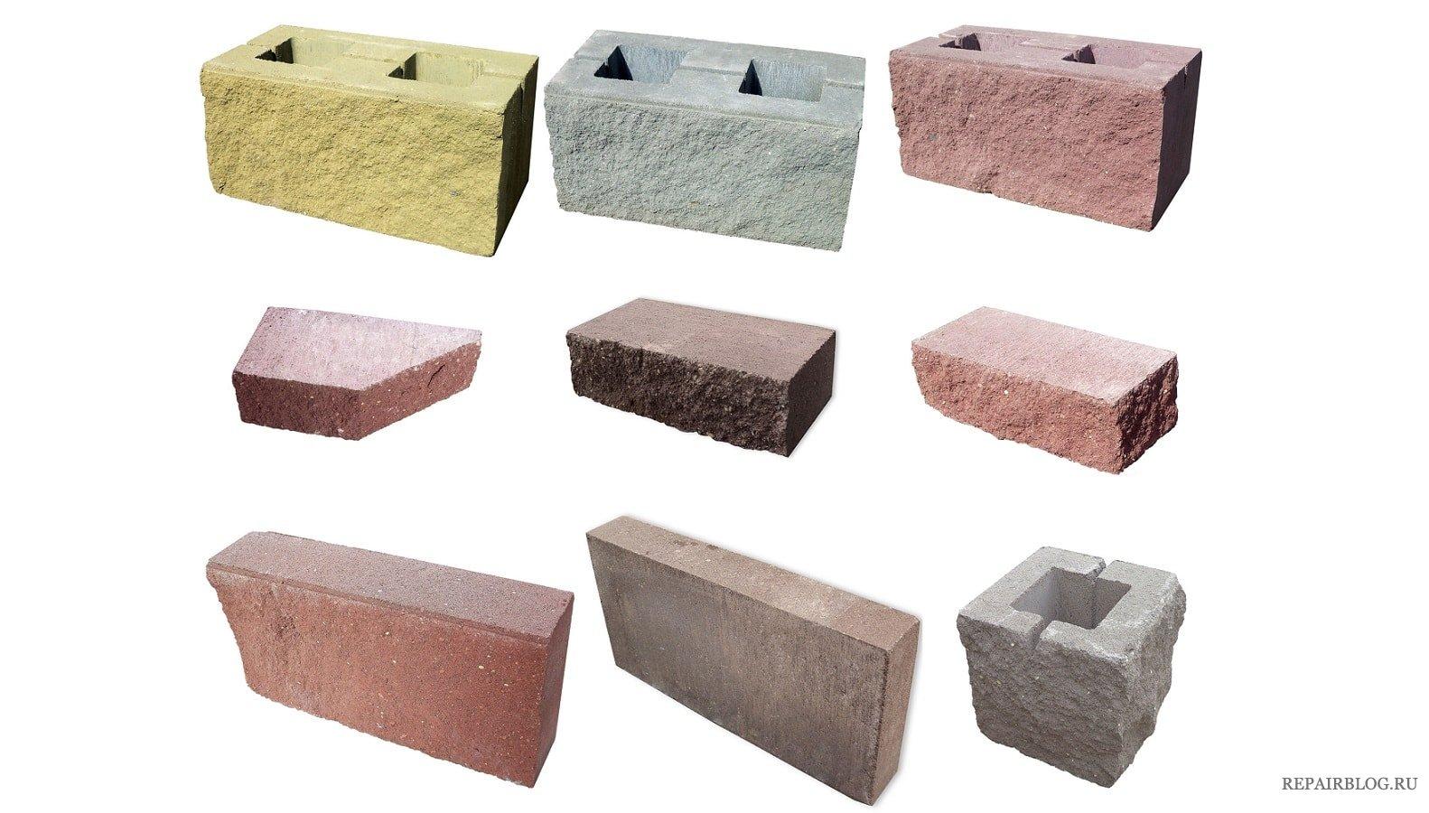 бетонные блоки виды фото праву